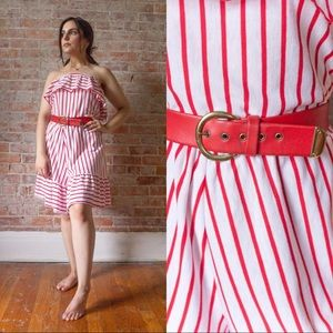 SALE 1970s/1980s TRUE VINTAGE RED/WHITE ROMPER